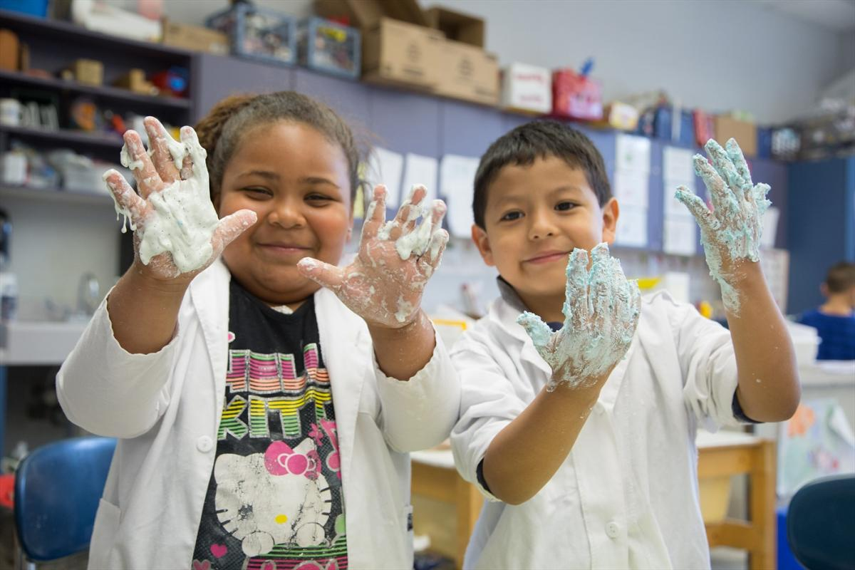 Students in A Connecticut Expanded Learning Time School Learning STEM